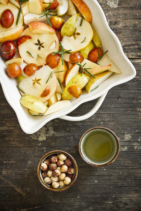 Frutta al forno con sidro e rosmarino for Frutta con la o iniziale